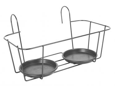 Porte-pot à crochet - 2 pots - L. 45 x l. 22 cm