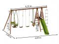 Dimensions : L. 4,60 x P. 3,60 x H. 2,35 m