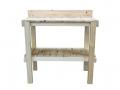 Table de rempotage en bois brut