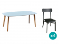 1 table + 4 chaises coloris anthracite