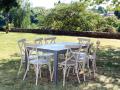 Salon repas VINTAGE table + chaises