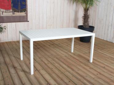 Table rectangulaire avec lattes crème