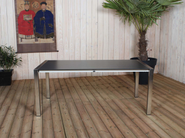 Table BELIZE en inox et HPL