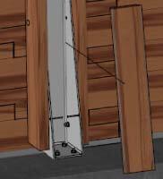 Habillage bois pour masquer les renforts de structure