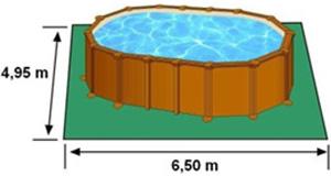 L'espace nécessaire au sol pour la piscine AMAZONIA est de 32,175 m2