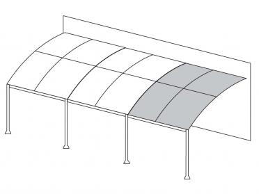 Toile pour l'extension de la tonnelle adossée ILLUSION 3 m x 4 m