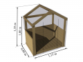 Dimensions : L. 1,15 m x P. 0,80 x H. 1,35 m