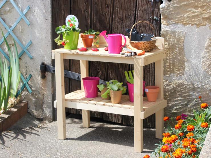 table de rempotage en bois pour enfant r glisse soulet. Black Bedroom Furniture Sets. Home Design Ideas