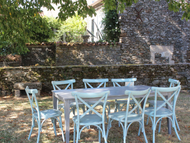 Salon de jardin VINTAGE table + chaises