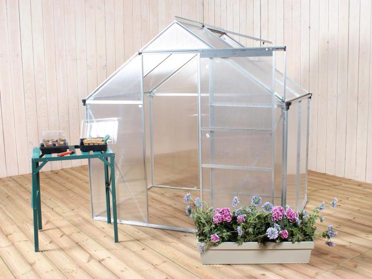 Serre en alu et polycarbonate 1 90 m x 1 30 m - Serre jardin polycarbonate caen ...