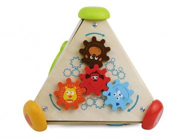 Triangle d'activités en bois