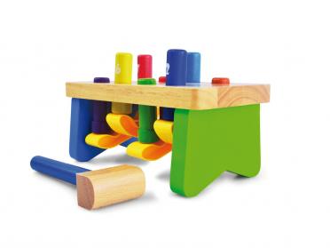 Tap' Color - banc à marteler en bois