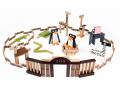 PILOS Zoo 200 bûchettes de construction en bois