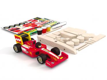 Voiture de F1 à construire - Maquette en bois voiture de course