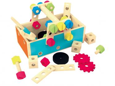 Ma première caisse à outils en bois pour enfant