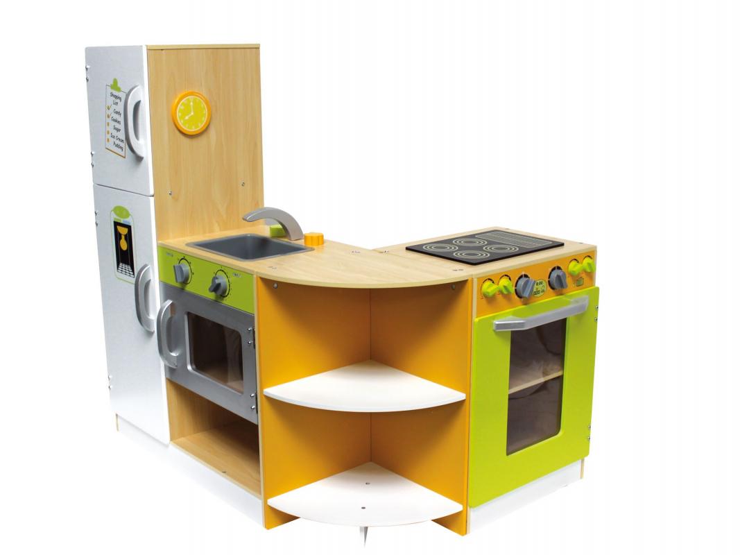 grande cuisine modulable en bois pour enfant. Black Bedroom Furniture Sets. Home Design Ideas