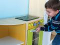 Grande cuisine modulable en bois pour enfant