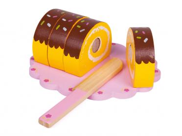 Roulé au chocolat à couper