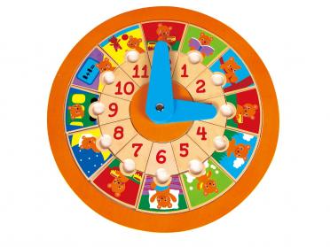 Horloge ludique en bois
