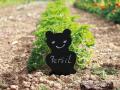 3 signets en ardoise pour le jardin