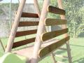 Set garde coprs bois pour portique 2,35 m