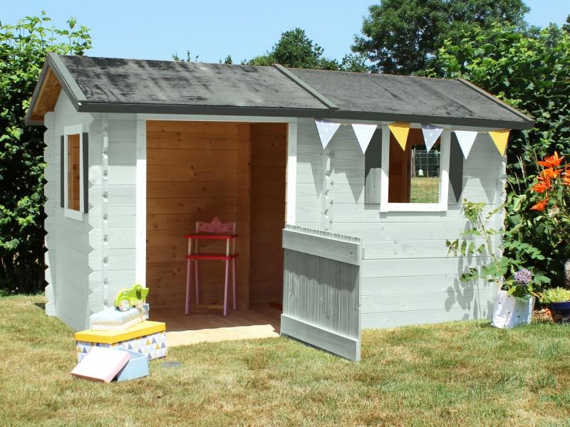 Maisonnette en bois coline - Maisonnette en bois leclerc ...