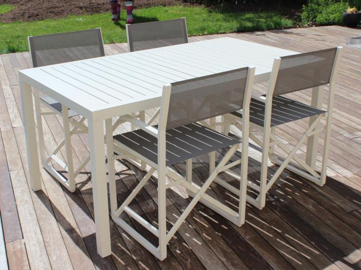 Salon repas table rectangulaire avec lattes + chaises DIRECTEUR