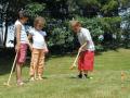 Croquet en bois 6 joueurs jeu pour jardin