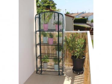 Serre balcon 4 niveaux + housse PVC