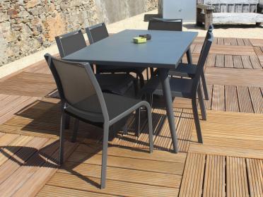 Salon de jardin MICA + 6 chaises SEVILLA