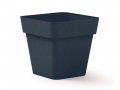 Pot Cléo carré 40 x 40 x H. 39cm avec plateau clipsé et équipé de 4 roulettes