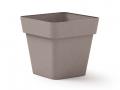 Pot Cléo carré 28 x 28 x H. 24.6cm avec plateau clipsé et équipé de 4 roulettes