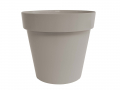 Pot Cléo rond dimètre 20 x H. 17.7cm, avec plateau clipsé et équipé de 4 roulettes