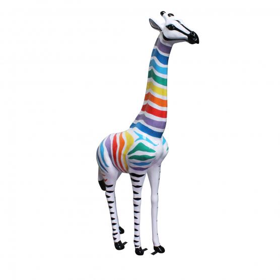 Girafe rayures multicolores zébrées