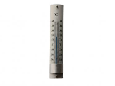 Thermomètre aluminium H. 22cm
