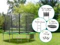 trampoline diamètre 3,05 m