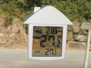 Thermomètre électronique de fenêtre - A ventouse