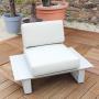 salon bas capri sable avec fauteuil