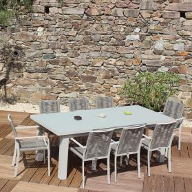 Salon de jardin CORDOBA - couleur Sable - fauteuils cordes