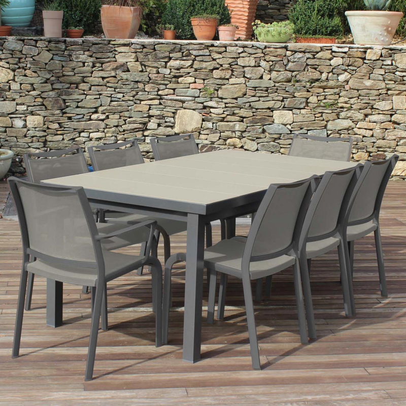 Stunning Table De Jardin Hexagonale Contemporary - House ...