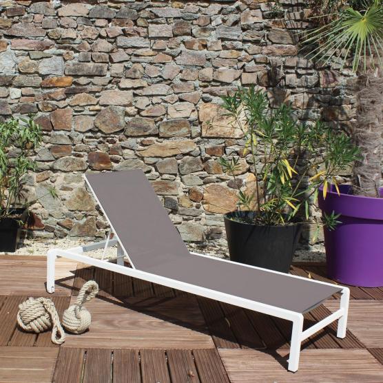 Bain de soleil IBIZA blanc / taupe