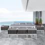 Salon de jardin VALPARAISO en aluminium et résine tressée