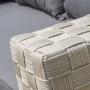 Salon bas COMPOS en aluminium et résine tressée