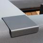 salon de jardin détente managua couleur gris anthracite salon d'angle extérieur