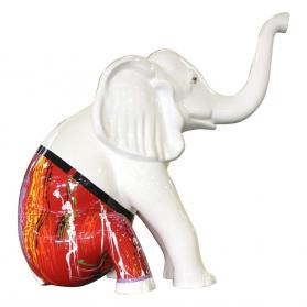 Éléphant assis 50 x 26 x H. 53 cm