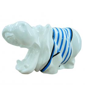 Hippopotame 50 x 20 x H. 25 cm
