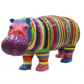 Hippopotame 173 x 55 x H. 82 cm
