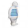 Pingouin marinière bleue