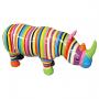 Rhinocéros rayures multicolores