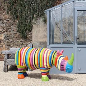 Rhinocéros 175 x 62 x H. 86 cm
